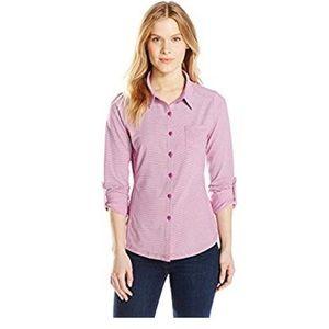 prAna Kinley Shirt striped polka dot combo button